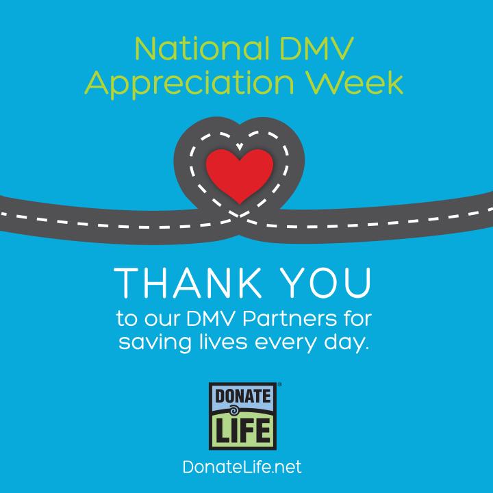 National Dmv Appreciation Week Donate Life Nc