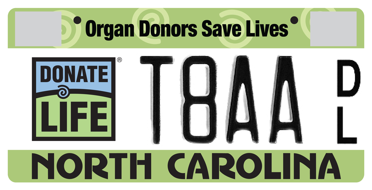 Donate Life Plate